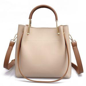 ACELURE semplici borse a spalla Bucket Bag Donne Stile unico solido di colore Top-handle sacchetto di alta qualità Crossbody Borse borsa del pacchetto