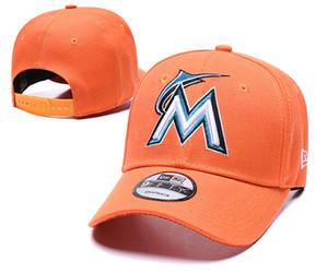 1 Piece Golf Visor Marlins Snapback Hats Gorras Embroidered M Letter Team Logo '47 Brands Hip Hop Cheap Sports Baseball Adjustable Caps
