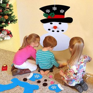 Christmas Decoration For DIY Felt Christmas Snowman Hanging Ornaments Gifts New Year Door Wall Hanging Xmas Kids Accessories RRA2080