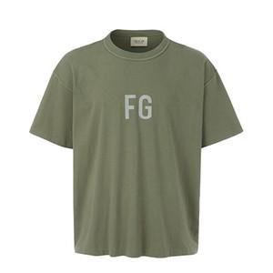 ANGST vor GOTT FG LOGO 3 MT Reflektierende Oversize T Premium Qualität NEBEL Innen heraus Casual T-Shirt für Männer Frauen Hip Hop Skateboard Streetwear