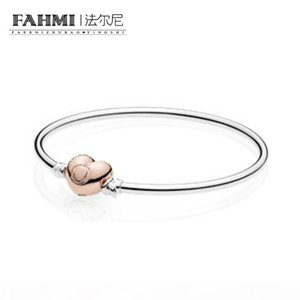 FAHMI 100% 925 Sterling Silver 1:1 Original 586268 Charm Bracelet Authentic Temperament Fashion Glamour Retro Wedding Women Jewelry