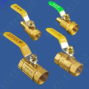 """Interruptor de la válvula de bola de agua a gas Válvula de control de Swith de mango Gas Natural Calentador de agua completa Cobre Espesar largo G1 / 2"""" G3 / 4"""""""