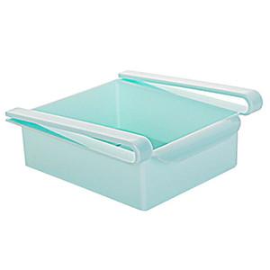 Durable Cozinha Frigorífico Congelador Gaveta Tipo armazenamento prateleira domésticos de plástico Organizer Box tipo de slide gaveta Prateleira Titular Bin