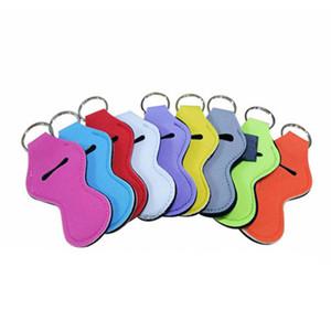 Néoprène Keychain Porte-clés Porte-Rouge à lèvres Fashion Portable Chapstick Sac téléphone Longe Charms couleur unie Parti Cadeaux