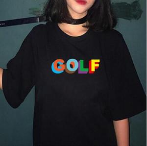 2020 Новый Тайлер Создатель Golf Wang Flower мальчик Cat Rap Music Golf Wang OFWGKTA Skate Мужчины Tshirt мужчины / женщины Hip Hop Tshirt