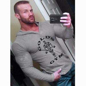 Mens or Gym Sweatshirt à capuche culturisme hommes sport à capuche Suits Tank Top Muscle Shirts Coton Gym Vêtements Hotsale