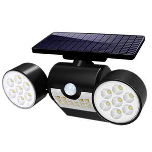 14Leds Sensor de movimentos Ao Ar Livre Lâmpada Solar Rotável carga de Energia Solar À Prova de água Parede de jardim luzes solares de dupla extremidade