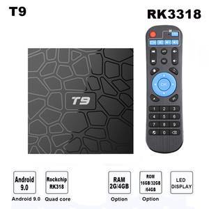 Android 9.0 TV BOX Smart TV Box T9 Quad Core 4K Media Player H.265 2.4G WIFI USB 3.0 TVbox Set Top Box