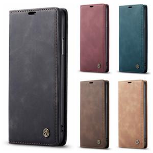 İPhone 11 Xi XS Max XR X 8 7 6 CaseMe Deri Cüzdan Kılıf Samsung S10 S10E A70 A50 A40 A30 A20 Suck Manyetik Kapatma Vintage Çevirme Kapakları