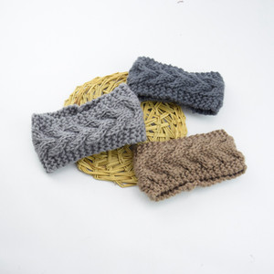 Gestrickte Häkelarbeit-Stirnband für Kinder Babywintersport Headwrap Hair Turban-Kopf-Band-Ohr-Wärmer Beanie Mütze Stirnband LJJA3547