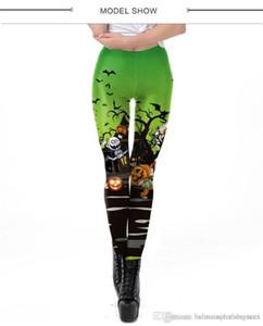 Leggings 3D digitale stampato Womens Skinny Pants Yoga Femminile Pantaloni fitness Athletic Sports vita alta Donne