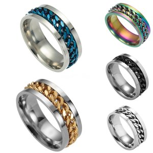 Valentine'S Day Gift- Mixed Order Dropshipping Stainless Steel Rings Mens Ring Chain And Tyre Design Rings Jewelries Factory Supplier 414 #31