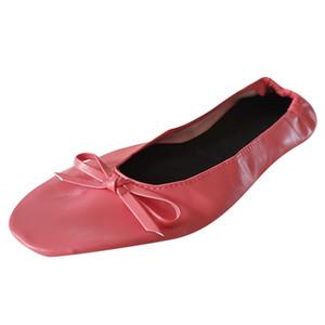 Scarpe da donna Flats pieghevole di corsa portatile di balletto piatto Pantofole Scarpe Dance Party Calcados Feminino Zapatos Mujer 2019 # 10