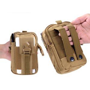 Grande capacité étanche téléphone mobile tactique cas ceinture poche taille Molle pack fanny randonnée en plein air Traveling