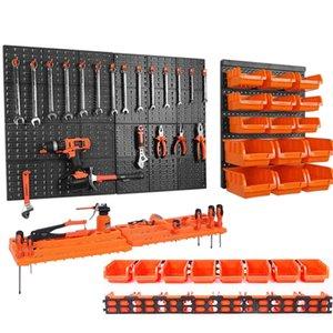 Настенный аппаратный инструмент подвесная доска запчасти ящик для хранения гараж мастерская стеллаж для хранения винтовой ключ классификация кейс