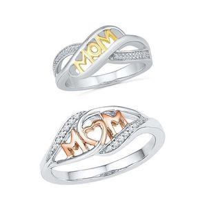 Liebe Mom Ring Crytsal Rose Gold Herz Ring für Frauen Mutter Geburtstagsgeschenk