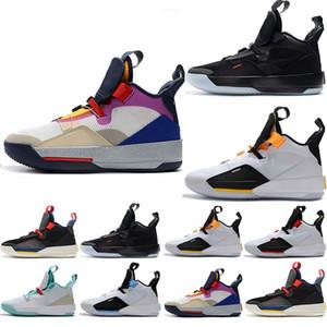 Дизайнер мужские тренеры Jumpman XXXIII 33 будущие истоки Tech Pac баскетбол обувь 33s для мужчин высокого качества бег трусцой кроссовки размер США 7-13