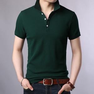 Summer 2019 New Fashion Mens Polo Shirt Brand Short Sleeve Slim Fit Shirts Men 100% Cotton Leisure Bottom Shirt Male Polo Shirts T200528