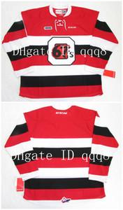 Трикотажные изделия OHT OTTAWA 67'S BARBER POLE Красный Белый Обычай Любое имя Количество 100% Шить Кастом Хоккей