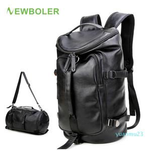 Designer-NEWBOLER Gym Bag Leather sac de Sport Backpack For Men Fitness Training Travel Camping Waterproof Shoulder Sports Duffel Bag