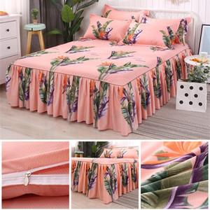 3PCs Set Bed Rock Queen-Size-Bettwäsche-Set Cotton Tagesdecke einschließlich Mädchen Bedsheet Bedcover Pillowcase Haus-
