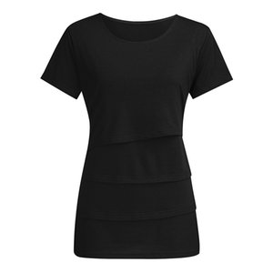 Nursing Top estate delle donne Elegante Casual manica corta allattamento al seno maglietta del partito incinta vestiti di maternità Ropa embarazada 19May