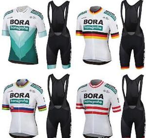 2019 프로 팀 보라 사이클링 저지 9D 세트 MTB 자전거 의류 로파 Ciclismo 자전거 옷 남성 짧은 Maillot Culotte