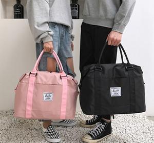 디자이너 더플 가방 유니섹스 야외 스포츠 casua bags 요가 가방 디자인 건조하고 젖은 격리 영역 47cm 너비