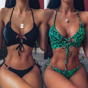 2020 New Top Sexy Swimwear Push Up Bikini Bandage Sport Suit High cut Bathing Suit Swimsuit Women Bikini Set Swimming Suit