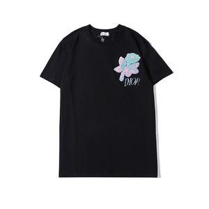 20ss minimalista Paris Mini T-shirt estate Maglietta casuale delle donne degli uomini Nero Bianco fiori ricamati manica corta Medusa T-shirt