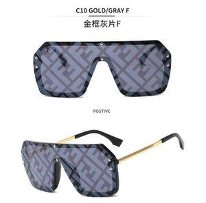 Fendi lunettes solaires La dernière vente populaire designer hommes de lunettes de soleil mode haut cadre de combinaison plaque carrée métal qualité lentille anti-UV400 15 couleurs