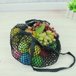 Marca NUEVA 1 UNID Cadena Reutilizable Compras Bolsa de Comestibles Shopper Tote Mesh Net Woven Cotton Bag Totalizadores de Mano