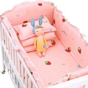 Kidlove 5pcs Ropa de cama cuna lecho de algodón del bebé del niño incluyen hojas Cuna Bumpers