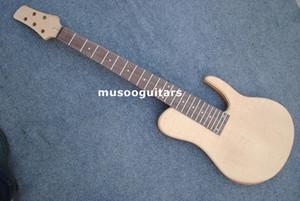 새로운 브랜드 unfinish 5 bass guitar kit with 3pc neck with natural color