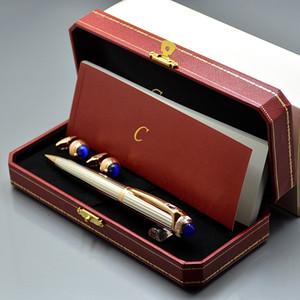 원래 상자 포장 - 고품질 카트 브랜딩 금속 볼펜 사무실 쓰기 공 펜 + 남자 셔츠 커프스 링크 크리스마스 선물