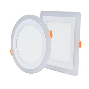 LED Panel ışık 6W 9W 16W 24W 3Model LED Panel Işık Çift Renkli LED Tavan yüzey paneli ışık monte