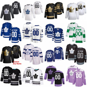 2020 All Star 16 Mitchell Marner 34 Auston Matthews Custom Custom Toronto Maple Leafs Hockey Jersey 29 William Neylander 91 John Tavares Andersen