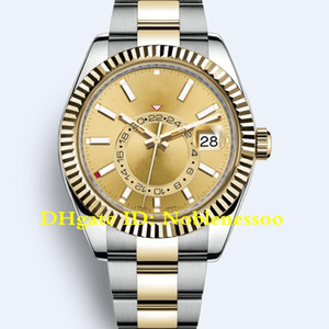 19 couleurs Homme auto en acier jaune or rose or bracelet huître montre GMT 326933 326934 326938 Asia 2813 Montre automatique Montres pour hommes