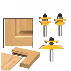 Freeshipping 3Pz 1/2 / 2inch Shank Rail Blade Cutter Panel Cabinet Router Bits Set Fresa Utensili a mano Coltello per porta Cutter per legno