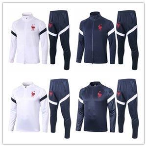 2020 2021 uniforme de l'équipe nationale Mbappé Pogba maillot de football de survêtement veste chemise de formation Giroud Griezmann frence le football à manches longues