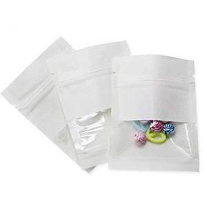 Stand Up Kraft Paper Bag Kraft Tasche mit Reißkerbe und Matt Fenstern Zip-Lock-Food-Speicher-Beutel-Tee-Kaffee-Packet