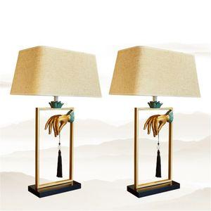 Ao estilo chinês moderno Resin Table Lamp Restaurant Villa Hotel Home Decor Sala Quarto Desk Luz TA054