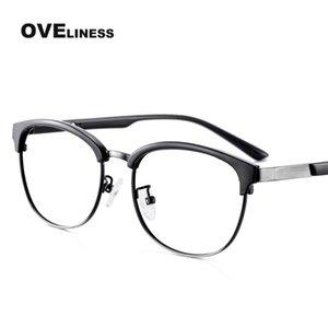 2020 Retro female eye glasses frame eyeglass frames for women Optical Transparent Myopia Prescription Korean glass eyewear frame