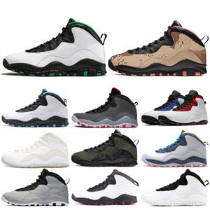 Новые 10 10s Мужчины Баскетбол обувь сиэттл Орландо Синий Цементный я назад Powder Blue Gray Steel Mens тренеров обувь кроссовки