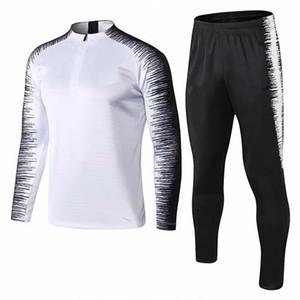 frete grátis 1819 de alta qualidade sportswear 19 nova marca de água branca metade zíper esportes Futebol Masculino formação terno terno