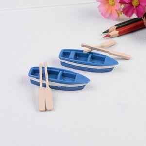 3pcs set Mini Boat Oars Miniatures Fairy Garden Ornament Miniatures Natural Resin Craft Figurine Terrariums Garden Decorations