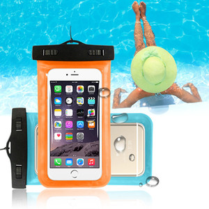 Su geçirmez Telefon Kılıfı için iPhone 7 8 Artı XR X Yüzmek Kılıfı Çanta Samsung S10 Huawei P20 Lite Kılıfı Yüzmek için Su Geçirmez Kılıf