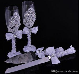 هدية زفاف فاخرة 2016 4pcs set Set Golet Diamond Cake Skie Skie Set Personalized Decoration Party Favorsspopies