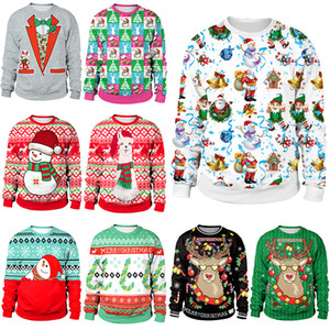 Christmas Clothing Women's Casual Loose Tops New Christmas Day Clothing Long-sleeved Round Neck Sweater Christmas costumes