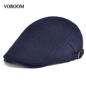 Pamuk Erkekler Kadınlar Lacivert Düz Ivy Cap Yumuşak Düz Renk Sürüş Cabbie Şapka Ayarlanabilir Newsboy 039 Caps